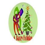 Jazz Holiday Oval Ornament
