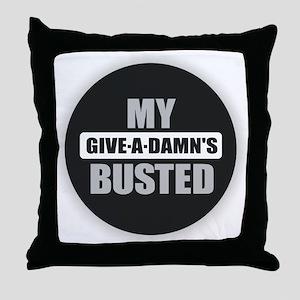 Damn Throw Pillow