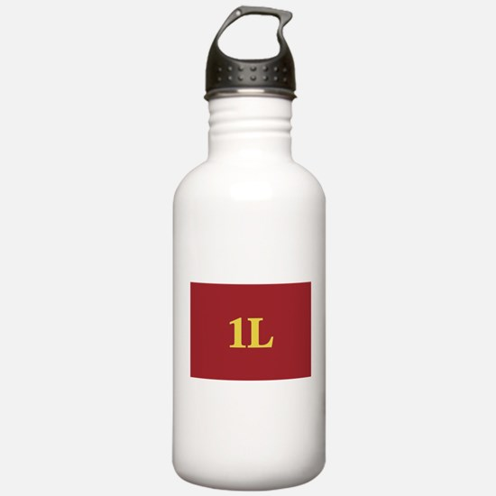 1L Red/Gold Water Bottle