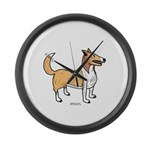 Collie Large Wall Clock
