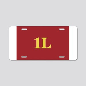 1L Red/Gold Aluminum License Plate
