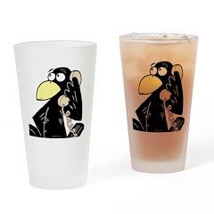 Crow Drinking Glass