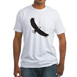 Bald Eagle Soaring Fitted T-Shirt