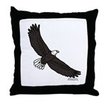 Bald Eagle Soaring Throw Pillow