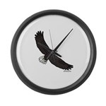 Bald Eagle Soaring Large Wall Clock