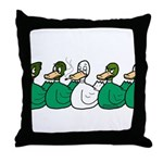 Duck Row Throw Pillow
