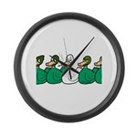 Duck Row Large Wall Clock