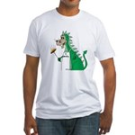 Dragon Grilling Fitted T-Shirt