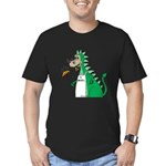 Dragon Grilling Men's Fitted T-Shirt (dark)