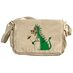 Dragon Grilling Messenger Bag