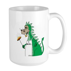 Dragon Grilling Large Mug