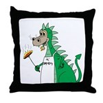 Dragon Grilling Throw Pillow