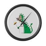 Dragon Grilling Large Wall Clock