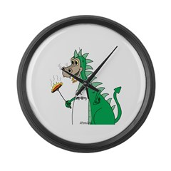 Dragon Grilling Large Wall Clock