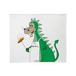 Dragon Grilling Throw Blanket