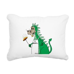 Dragon Grilling Rectangular Canvas Pillow