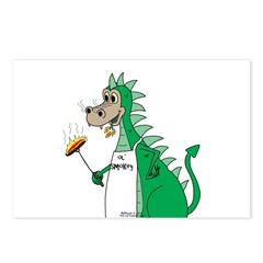 Dragon Grilling Postcards (Package of 8)