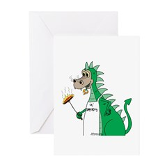 Dragon Grilling Greeting Cards (Pk of 10)