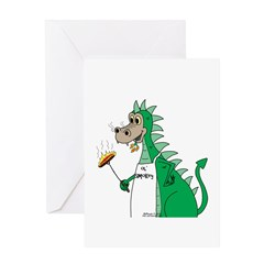 Dragon Grilling Greeting Card
