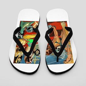 Space Bachelor Flip Flops
