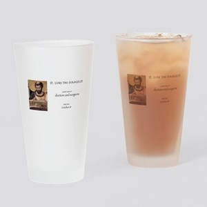 st. luke the evangelist, patron sai Drinking Glass