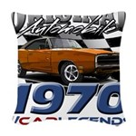 1970 Charger Woven Throw Pillow
