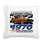 1970 Charger Square Canvas Pillow