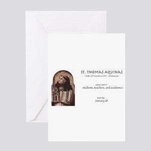 st. thomas aquinas, patron saint of Greeting Cards
