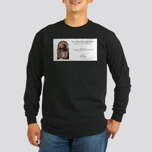 st. thomas aquinas, patron sai Long Sleeve T-Shirt