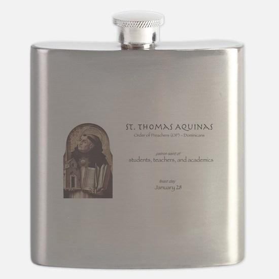 st. thomas aquinas, patron saint of teachers Flask