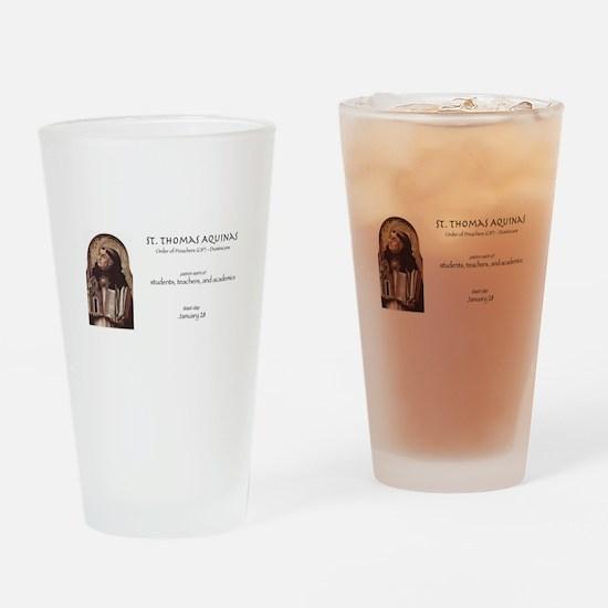 st. thomas aquinas, patron saint of Drinking Glass