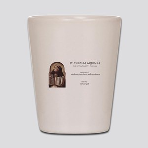 st. thomas aquinas, patron saint of tea Shot Glass