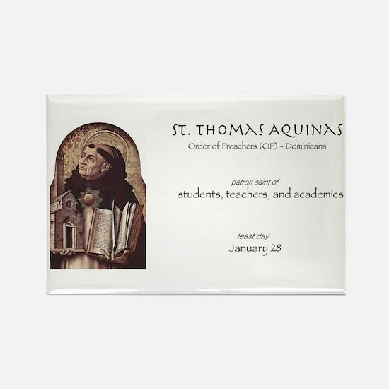 st. thomas aquinas, patron saint of teache Magnets