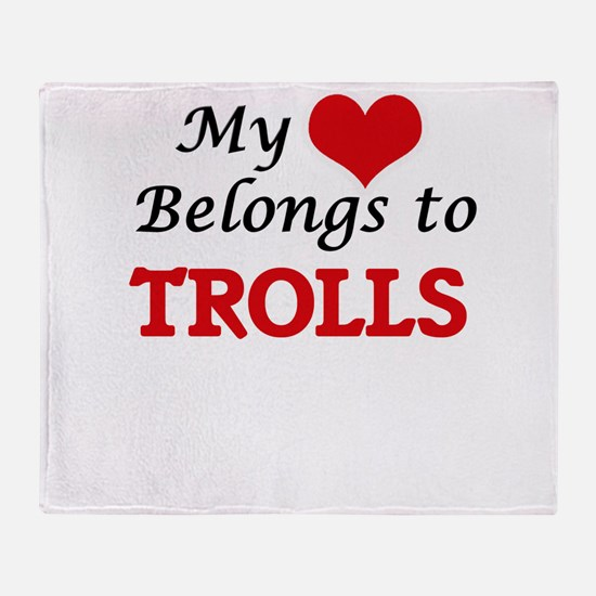 My Heart Belongs to Trolls Throw Blanket