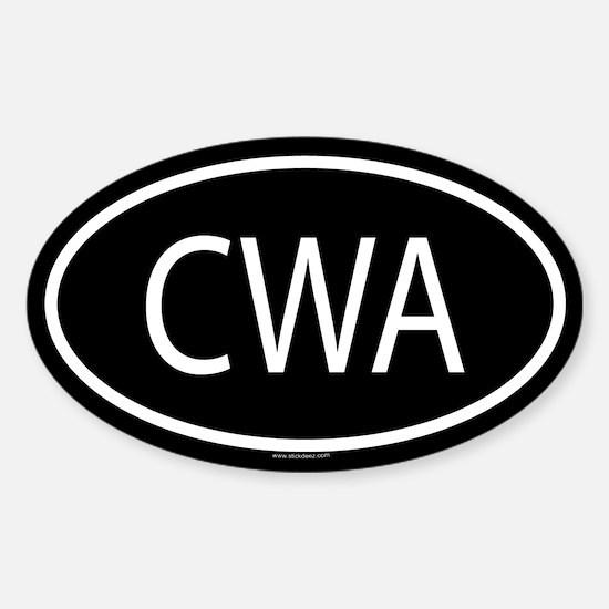 CWA Oval Decal