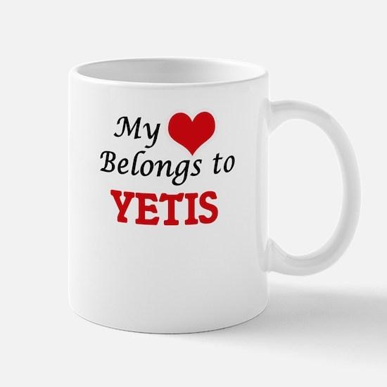 My Heart Belongs to Yetis Mugs