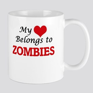 My Heart Belongs to Zombies Mugs