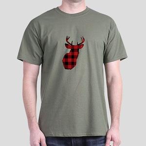 Plaid Deer Head T-Shirt