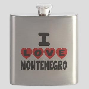 I Love Montenegro Flask