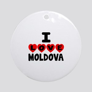 I Love Moldova Round Ornament