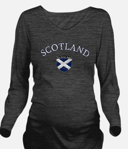 Scottish Football de Long Sleeve Maternity T-Shirt