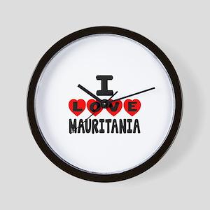 I Love Mauritania Wall Clock