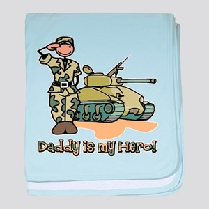 daddy is my hero baby blanket