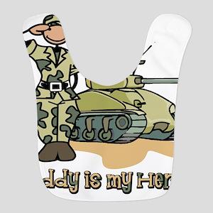 daddy is my hero Polyester Baby Bib
