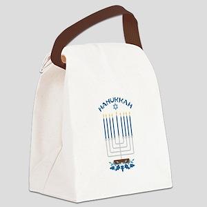 Hanukkah Candles Canvas Lunch Bag