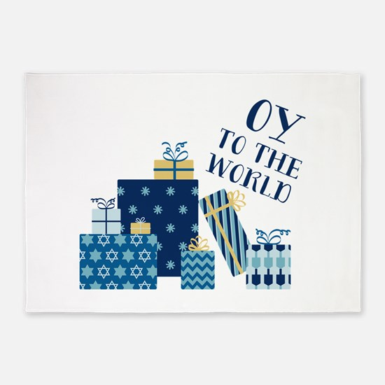 Oy To World 5'x7'Area Rug