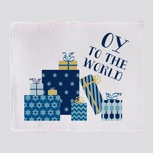 Oy To World Throw Blanket