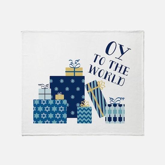 Oy To World Throw Blanket