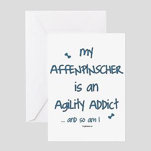 Affenpinscher Agility Addict Greeting Card
