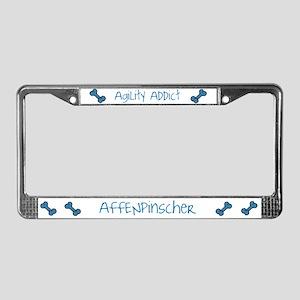 Affenpinscher Agility Addict License Plate Frame